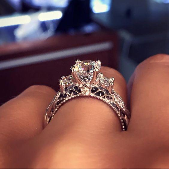 The Most Popular Engagement Ring on Pinterest Is Dazzling