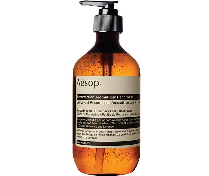 """<p>Aesop Reverence Aromatique Hand Wash, $39; at <a rel=""""nofollow"""" href=""""http://www.aesop.com/usa/resurrection-aromatique-hand-wash.html"""" rel="""""""">Aesop</a></p> <p></p>"""