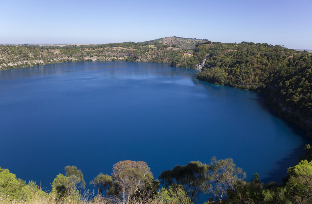 <em>Maar volcanoes like South Australia's Mount Gambier have the potential to be highly explosive (Rex)</em>