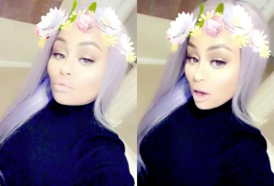 <p>Blac Chyna debuted some seriously gorgeous lavender purple hair after giving birth to daughter Dream Renée. <i> (Photos: Instagram/November 2016)</i> </p>