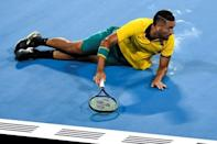 Nick Kyrgios of Australia is playing under a suspended 16-week ban