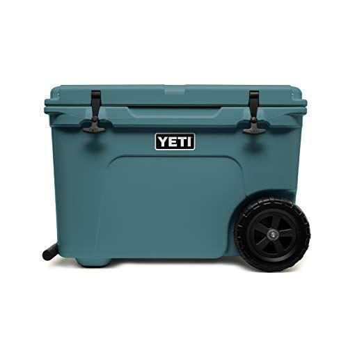 """<p><strong>YETI</strong></p><p>amazon.com</p><p><a href=""""https://www.amazon.com/dp/B07VHRTZ11?tag=syn-yahoo-20&ascsubtag=%5Bartid%7C10050.g.4357%5Bsrc%7Cyahoo-us"""" rel=""""nofollow noopener"""" target=""""_blank"""" data-ylk=""""slk:Shop Now"""" class=""""link rapid-noclick-resp"""">Shop Now</a></p><p>Dad is sure to appreciate the wheels on this best-in-class cooler. Now he can take his favorite drinks with him to tailgates, camping trips, and backyard barbecues. </p>"""