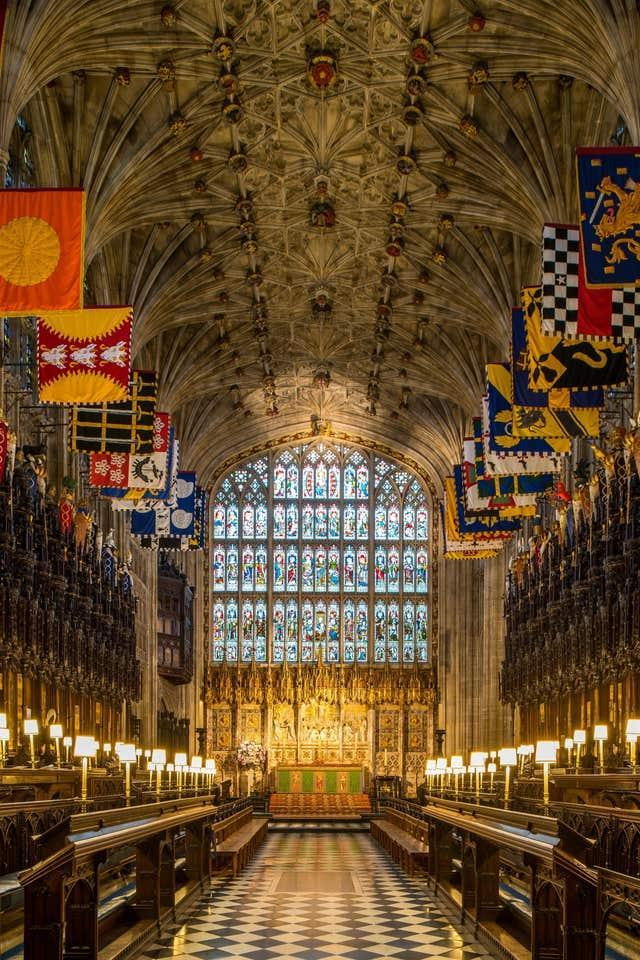 The Quire of St George's Chapel - beneath which is the Royal Vault