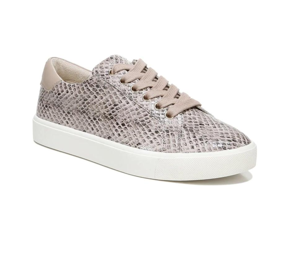 <p>The snakeskin trend is still going, so if you'd like to tap into it, consider getting these <span>Sam Edelman Ethyl Snakeskin Embossed Sneakers</span> ($100).</p>
