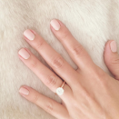 <p>'The Hills' star was proposed to with a beautiful rounded diamond, sat on a modest gold band. <em>[Photo: Instagram/Lauren Conrad]</em> </p>