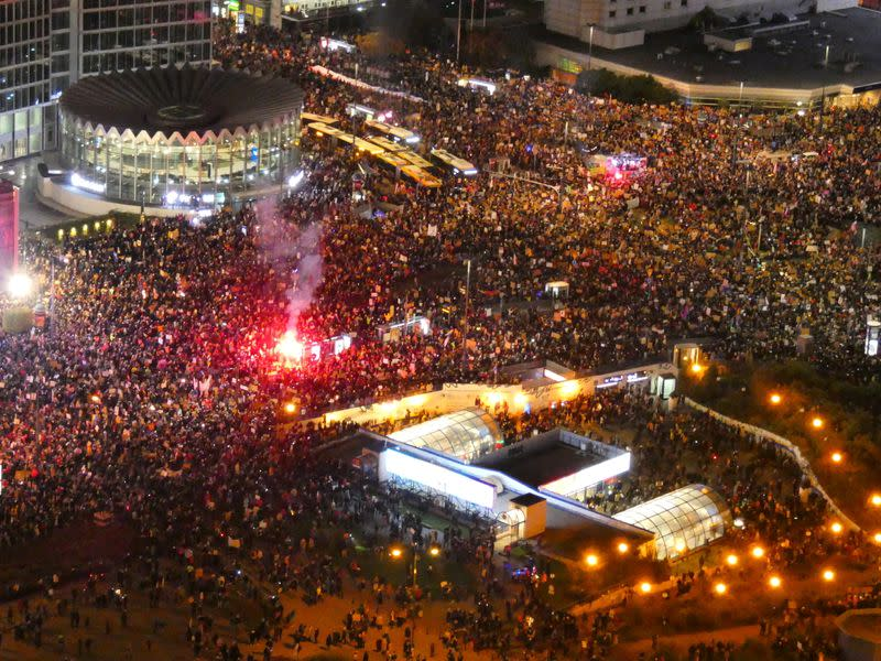 Protest against Poland's Constitutional Tribunal ruling on abortion, in Warsaw