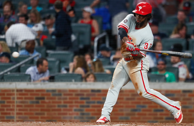 "<a class=""link rapid-noclick-resp"" href=""/mlb/players/9906/"" data-ylk=""slk:Odubel Herrera"">Odubel Herrera</a>'s sweet swing has returned (AP)"