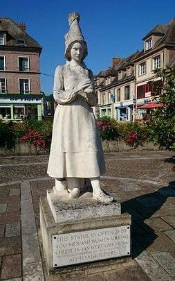 The statue of Marie Harel in Vimoutiers