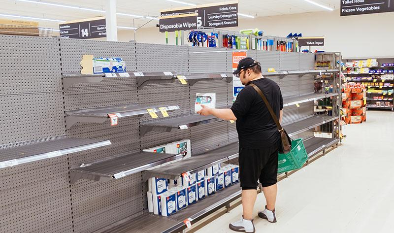As supermarket shelves remain empty, one Perth mum has gone viral with her stockpiling hack. Photo: Getty