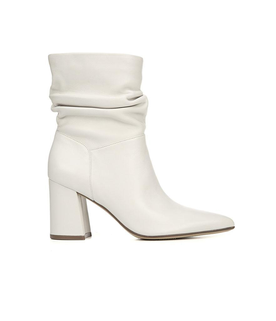 """<p>White booties are all the rage; a nonslip sole makes this pair supercomfy. <br><a href=""""https://fave.co/2Os1eRN"""" rel=""""nofollow noopener"""" target=""""_blank"""" data-ylk=""""slk:Shop it:"""" class=""""link rapid-noclick-resp"""">Shop it:</a> Hollace, $160, <a href=""""https://fave.co/2Os1eRN"""" rel=""""nofollow noopener"""" target=""""_blank"""" data-ylk=""""slk:naturalizer.com"""" class=""""link rapid-noclick-resp"""">naturalizer.com</a> </p>"""