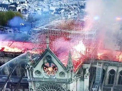Notre Dame fire: Drone images show full horror of Paris cathedral fire