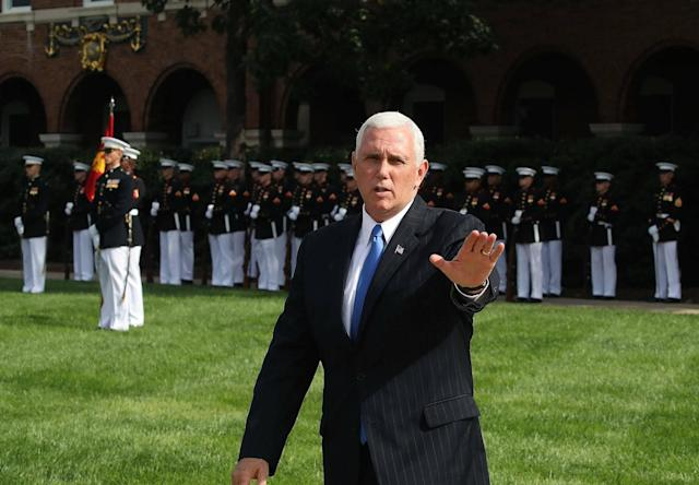US Vice President Mike Pence (Photo by Mark Wilson/Getty Images): Getty Images