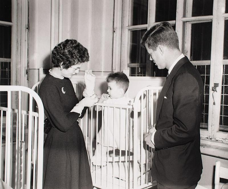 From left: First Lady Jacqueline Kennedy and President John F. Kennedy visit St. Justine's Children's Hospital in Montreal, Canada, in 1953 | The Ronnie Paloger JFK Collection / RR Auction