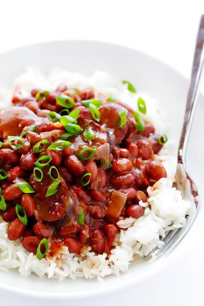 "<strong><a href=""https://www.gimmesomeoven.com/crock-pot-red-beans-and-rice/"" rel=""nofollow noopener"" target=""_blank"" data-ylk=""slk:Get the Crock Pot Red Beans and Rice recipe from Gimme Some Oven"" class=""link rapid-noclick-resp"">Get the Crock Pot Red Beans and Rice recipe from Gimme Some Oven</a></strong>"