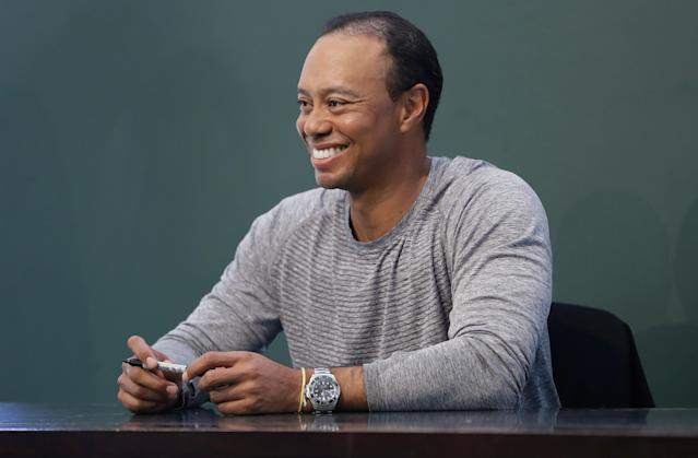 """<a class=""""link rapid-noclick-resp"""" href=""""/pga/players/147/"""" data-ylk=""""slk:Tiger Woods"""">Tiger Woods</a> is making baby steps as he recovers from back surgery. (Getty)"""