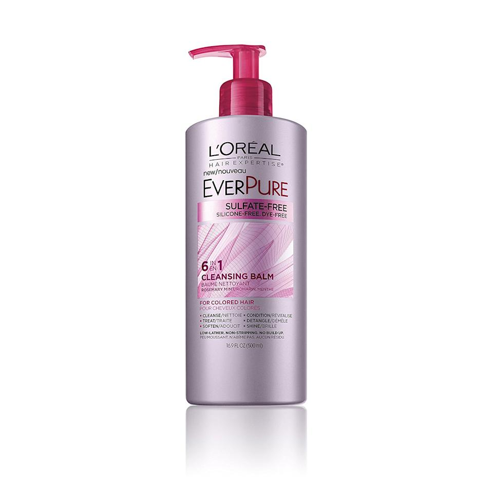 """<p><strong>Buy It: </strong>$9.02; <a rel=""""nofollow"""" href=""""https://www.amazon.com/LOreal-Paris-Expertise-EverPure-Cleasing/dp/B017LTGHC2"""">amazon.com</a></p> <p>If you want to pare down your haircare routine, try swapping out multiple bottles for one do-it-all cleansing balm: It washes, conditions, detangles, treats damage, softens and adds shine.</p>"""