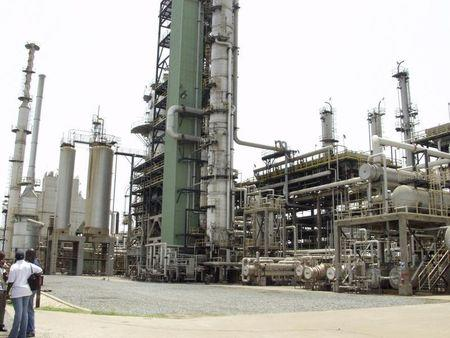General view of the Tema oil refinery near Ghana's capital Accra