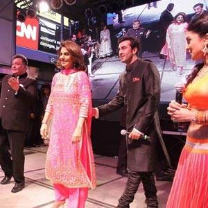 Team 'Besharam' Celebrates Diwali At New York's Times Square