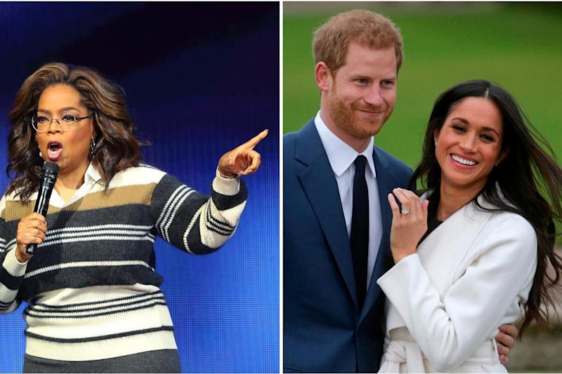 Opera Winfrey has spoken out in support of Harry and Meghan: Getty/AFP
