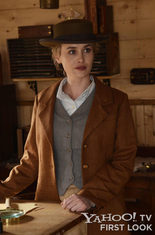 Lily Bell (Dominique McElligott) - Hell On Wheels - Season 2, Episode 1 - Photo Credit: Chris Large/AMC