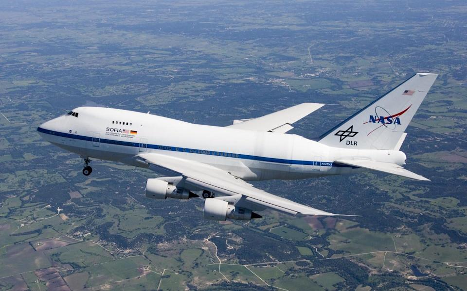 The SOFIA space observatory is housed in a modified 747 aircraft - NASA HANDOUT/EPA-EFE/Shutterstock/Shutterstock