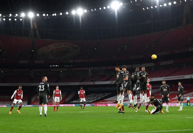 Alexandre Lacazette came close with a free-kick for Arsenal