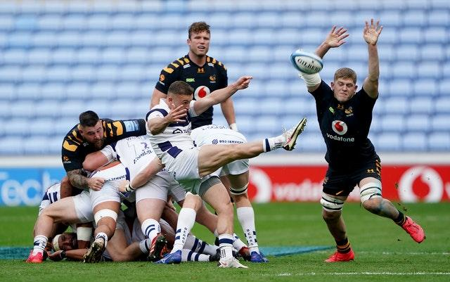 Jack Willis (right) has an impressive all-round game as Wasps beat Bristol