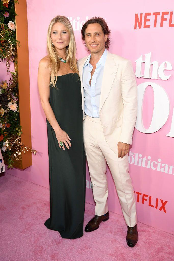 <p>Actress and Goop founder, Gwyneth Paltrow, tied the knot to television producer Brad Falchuk in the fall of 2018. The couple have been together since 2014, after meeting on the set of <em>Glee</em>. They most recently collaborated on <em>The Politician.</em></p>