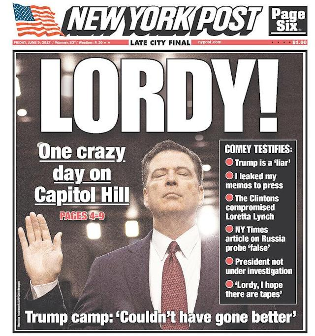 "<p>""New York Post,"" published in New York, N.Y. (Newseum) </p>"