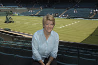 Clare Balding, part of the commentary team at Wimbledon for Radio 5 Live, at Wimbledon Centre Court. (Photo by Jeff Overs/BBC News & Current Affairs via Getty Images)