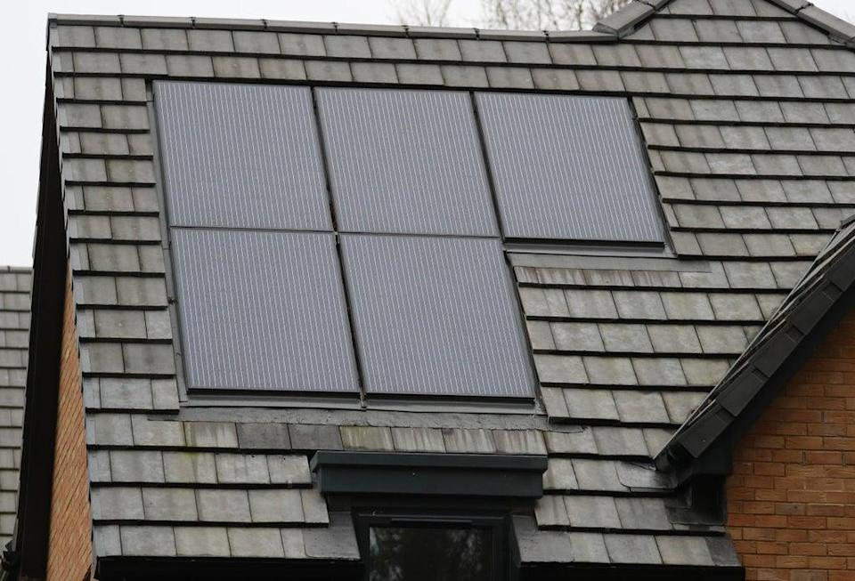 Nearly a million UK homes have solar panels (PA)