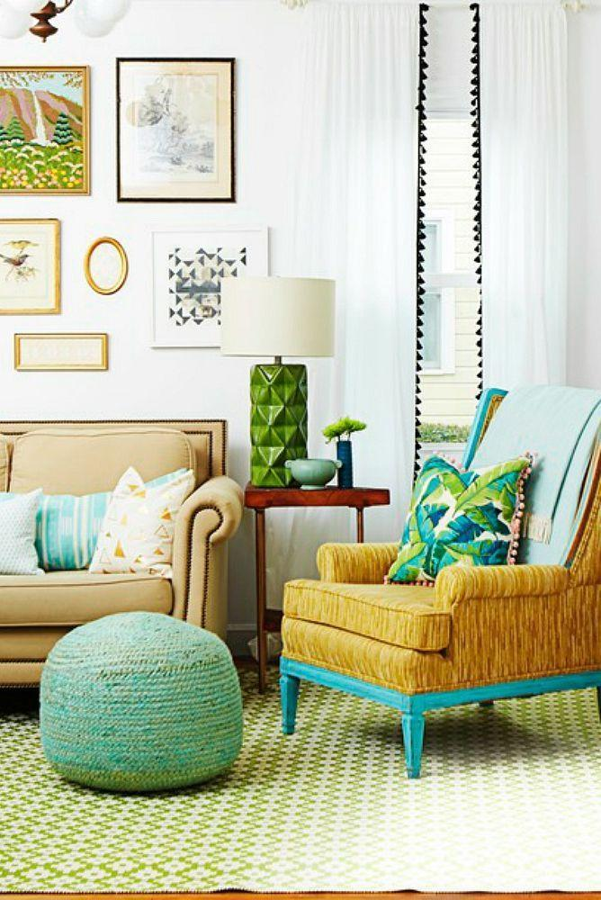 <p>Sometimes all it takes is an energetic pattern to transform a space. Mix prints within the same color family for a trendy, Instagram-worthy look. </p>