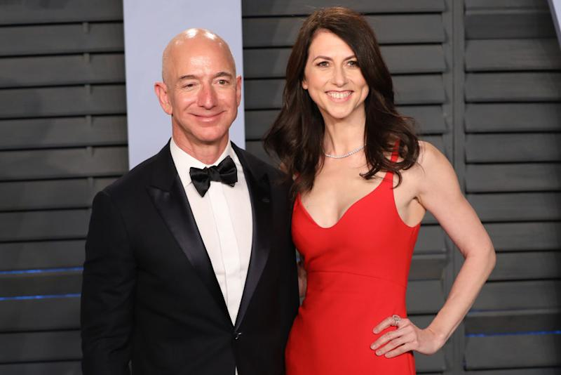 Jeff and Mackenzie Bezos announced their divorce earlier this year. Source: Getty
