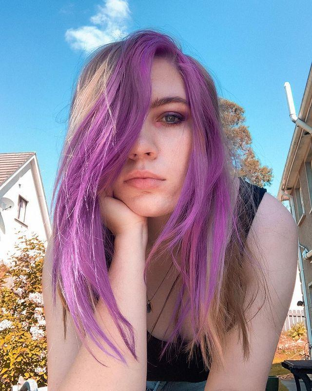 """<p>Bleach London is known for their bold transformations and we love this shade they've coined 'Bruised Voilet'. </p><p><a href=""""https://www.instagram.com/p/CAfv69MnPRH/"""" rel=""""nofollow noopener"""" target=""""_blank"""" data-ylk=""""slk:See the original post on Instagram"""" class=""""link rapid-noclick-resp"""">See the original post on Instagram</a></p>"""