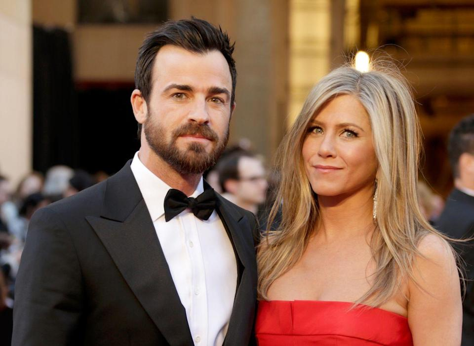 """<p>Yeah, so apparently Aniston kept little love notes from Pitt from when they were married. (Sweet, IMO.) Apparently Theroux found them two years prior, when they were already married. Ouch. </p><p>""""He stumbled upon old Post-it notes Brad had written,"""" <a href=""""https://www.marieclaire.com/culture/a18649946/justin-theroux-found-brad-pitt-jennifer-aniston-notes/"""" rel=""""nofollow noopener"""" target=""""_blank"""" data-ylk=""""slk:said a source to Us Weekly."""" class=""""link rapid-noclick-resp"""">said a source to <em>Us Weekly</em>.</a> """"Sweet little Post-its like, 'You looked nice tonight' or 'Miss you already.'""""</p>"""