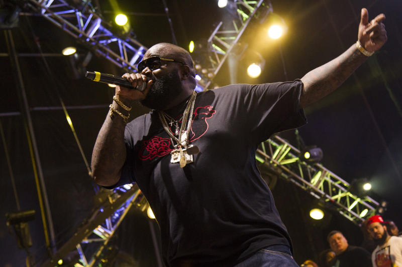 Rick Ross performs at the Hot 97 Summer Jam XX on Sunday, June 2, 2013 in East Rutherford, N.J. (Photo by Charles Sykes/Invision/AP)