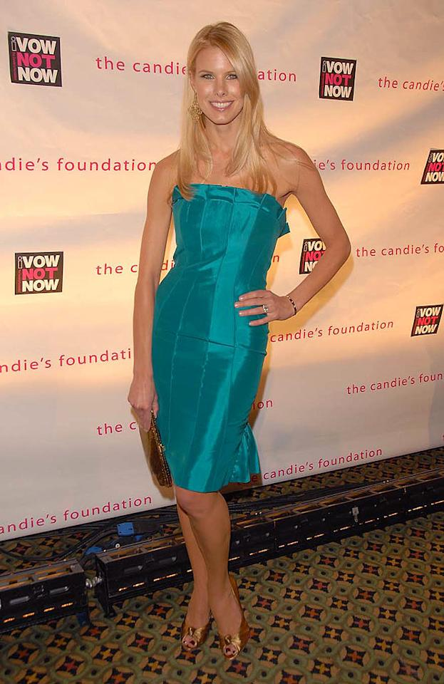 "Howard Stern's fiancee Beth Ostrosky looks terrific in teal. Theo Wargo/<a href=""http://www.wireimage.com"" target=""new"">WireImage.com</a> - May 7, 2008"