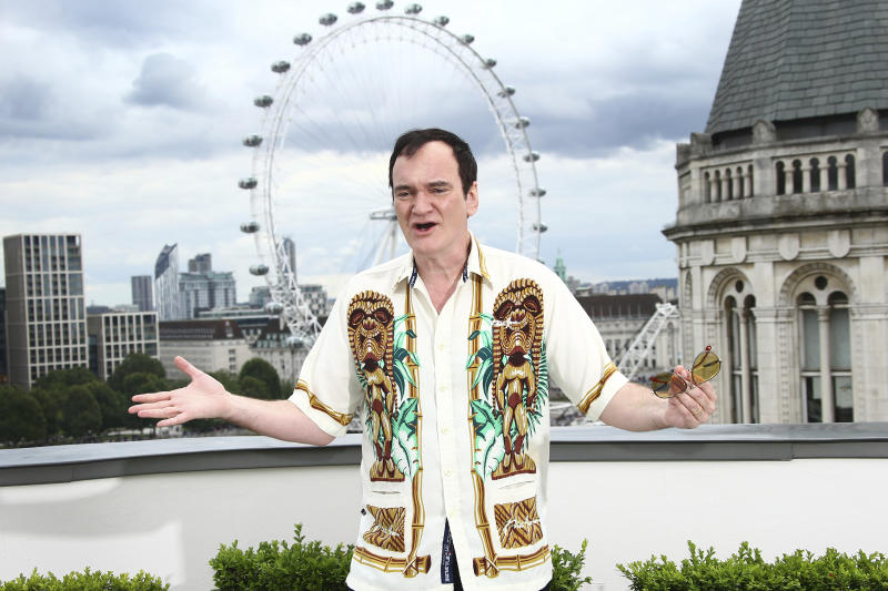 Writer and director Quentin Tarantino poses for photographers upon arrival at the UK photo call of Once Upon A Time in Hollywood, in central London, Wednesday, July 31, 2019. (Photo by Joel C Ryan/Invision/AP)