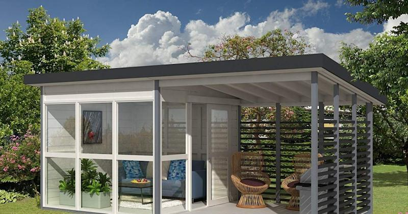 The Viral DIY Backyard Guest House That You Can Build in 8 Hours Is Back in Stock on Amazon!