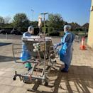 "<p>The last weekend in April blessed many parts of the UK with gloriously sunny weather. In this picture, taken at Queen's hospital in Romford, two ITU nurses took a a Covid-19 patient outside to enjoy some of the warm weather and benefit from some Vitamin D.</p><p><a href=""https://www.instagram.com/p/B_c_G-CHurl/"" rel=""nofollow noopener"" target=""_blank"" data-ylk=""slk:See the original post on Instagram"" class=""link rapid-noclick-resp"">See the original post on Instagram</a></p>"