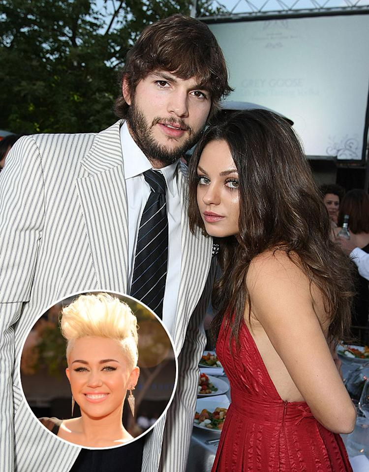 "Mila Kunis is ""seething with jealousy"" that Miley Cyrus will be on ""Two and a Half Men,"" because she's afraid Ashton Kutcher will ""fall prey to Miley's charms,"" reveals <i>Star</i>. The mag says Kunis has told Cyrus to ""keep your hands off my man!"" For why Kunis has legitimate reasons to take ""precautions"" and be concerned, go to <a target=""_blank"" href=""http://www.gossipcop.com/mila-kunis-jealous-ashton-kutcher-miley-cyrus-two-and-a-half-men-feud/"">Gossip Cop</a>."