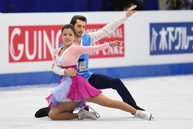 <p>Yura Min (Torrance, CA), South Korea, Ice dancing </p>