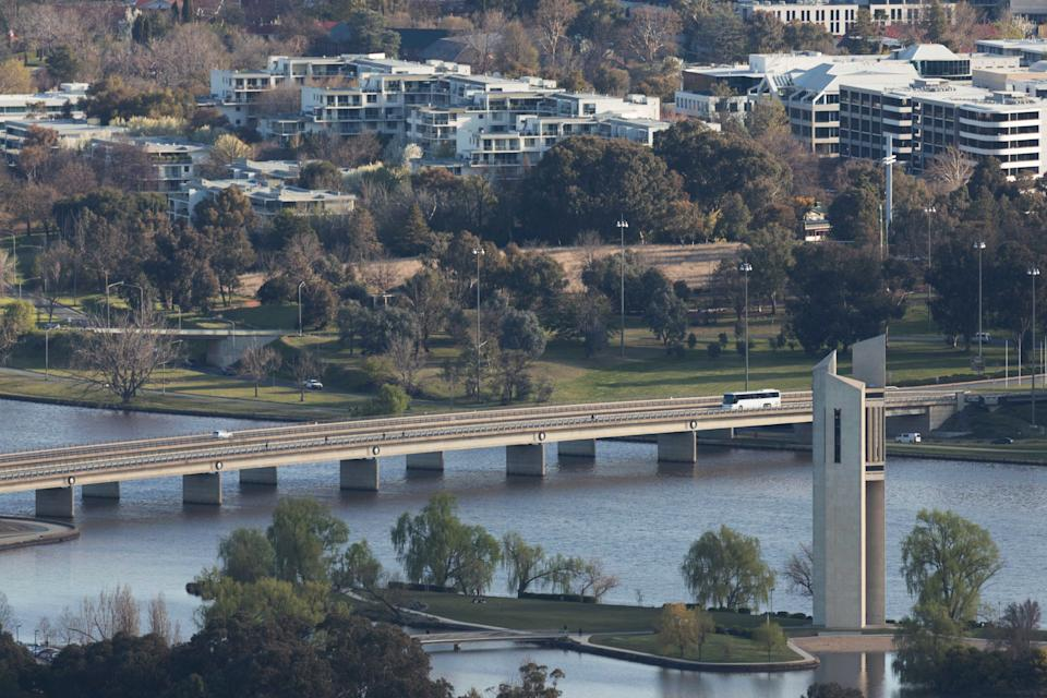 Photo taken on Sept. 14, 2021 shows a thoroughfare in Canberra, Australia.  The COVID-19 lockdown in Australia's capital city has been extended by a month as the country continues to battle the third wave of infections. (Photo by Liu Changchang/Xinhua via Getty Images)
