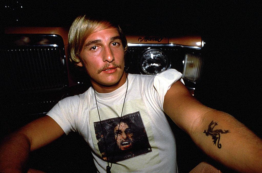 """<a href=""""http://movies.yahoo.com/movie/1800194750/info"""">DAZED AND CONFUSED</a> (1993)  With his long blond hair and Burt Reynolds-esque mustache, McConaughey embodied the best (or worst, depending on your outlook) of 1970s style."""