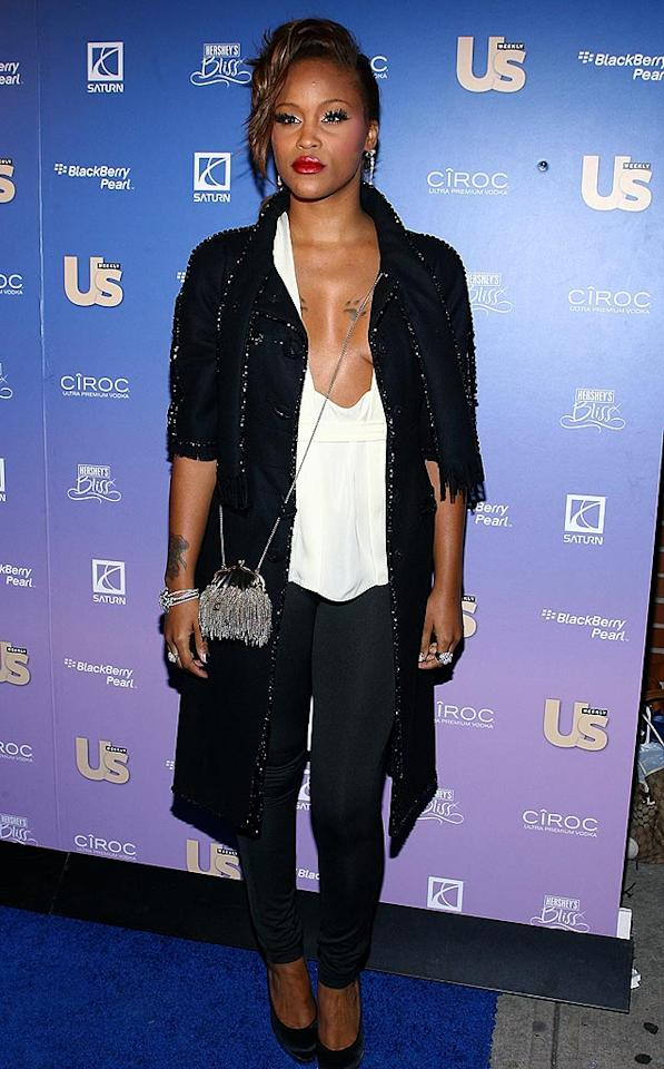 """According to Us, Eve rocked the blue carpet in a pair of Fetish leggings from her clothing line. Scott Wintrow/<a href=""""http://www.gettyimages.com/"""" target=""""new"""">GettyImages.com</a> - October 21, 2008"""