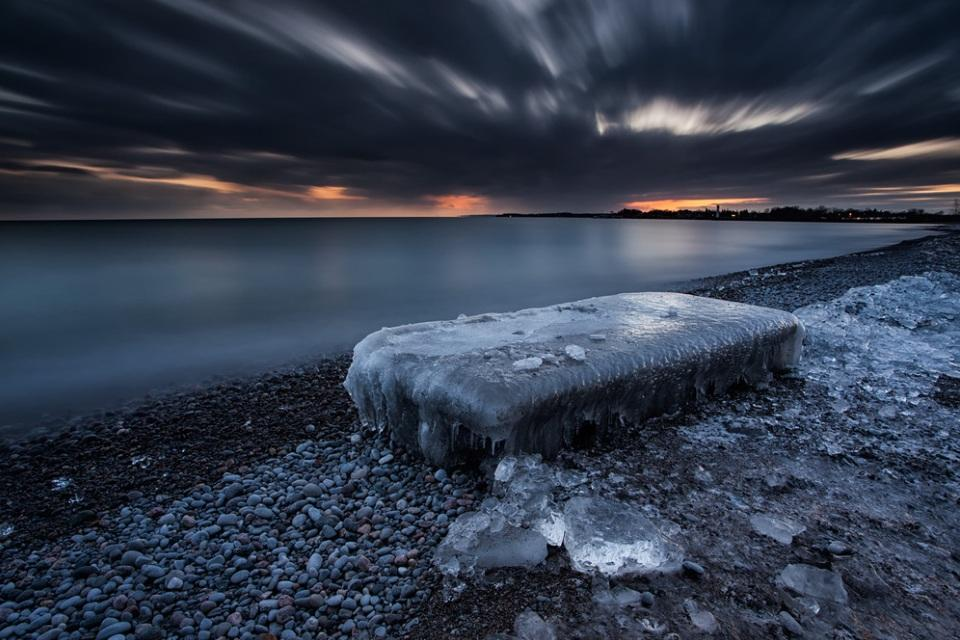 <p>The surroundings of Lake Ontario were all encased in ice when fierce winter storms whipped sub-zero waves onto the shore (Tim Corbin).</p>