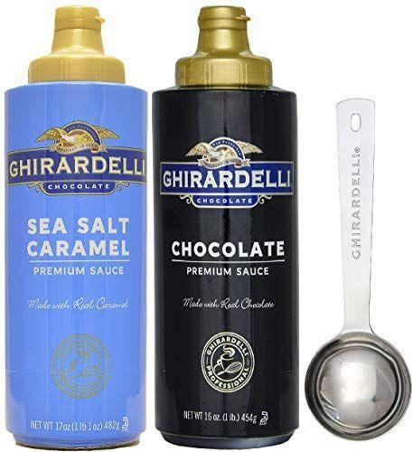 """<p><strong>Ghirardelli</strong></p><p>amazon.com</p><p><strong>$16.99</strong></p><p><a href=""""https://www.amazon.com/dp/B07CMHWFSJ?tag=syn-yahoo-20&ascsubtag=%5Bartid%7C10050.g.30680639%5Bsrc%7Cyahoo-us"""" rel=""""nofollow noopener"""" target=""""_blank"""" data-ylk=""""slk:Shop Now"""" class=""""link rapid-noclick-resp"""">Shop Now</a></p><p>Sea salt caramel and chocolate sauce will make her sundaes (and her Easter <em>Sunday</em>) that much sweeter. The set comes with a limited edition measuring spoon.</p>"""