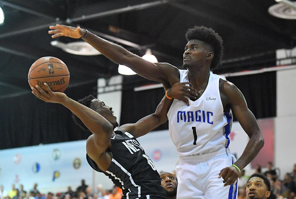 Jonathan Isaac could be a heck of a defensive sleeper in Yahoo Fantasy this season. (Photo by Sam Wasson/Getty Images)