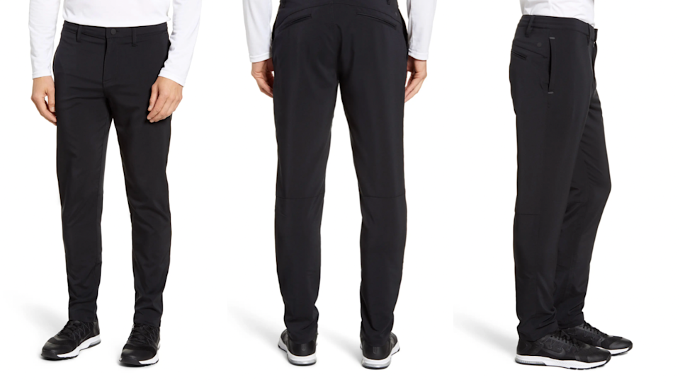 These commuter pants are trim enough for work and casual days off.
