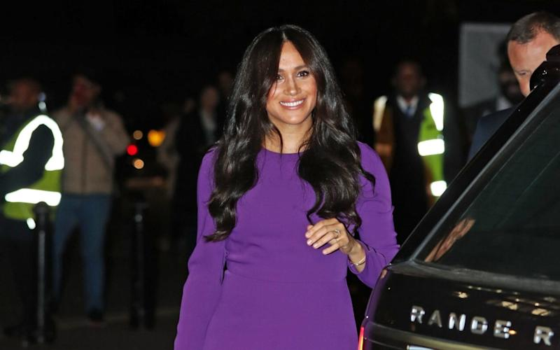 The Duchess of Sussex arrives at the Royal Albert Hall on Tuesday night - PA